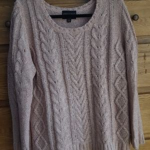 Rosy Pink Woven Sweater